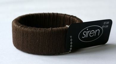 Siren Solid Brown Rope Bangle