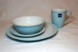 Denby Blue Linen 16 Piece Dinner Set
