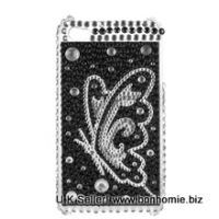 Silver Butterfly Diamante Gem Back Cover