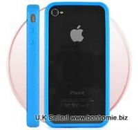 iPhone 4G Bumper Rubber and Molded Plastic Case (Blue)